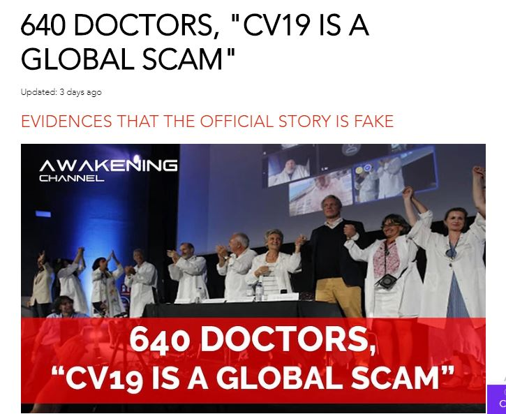 """COVID-19 is a Global Scam"