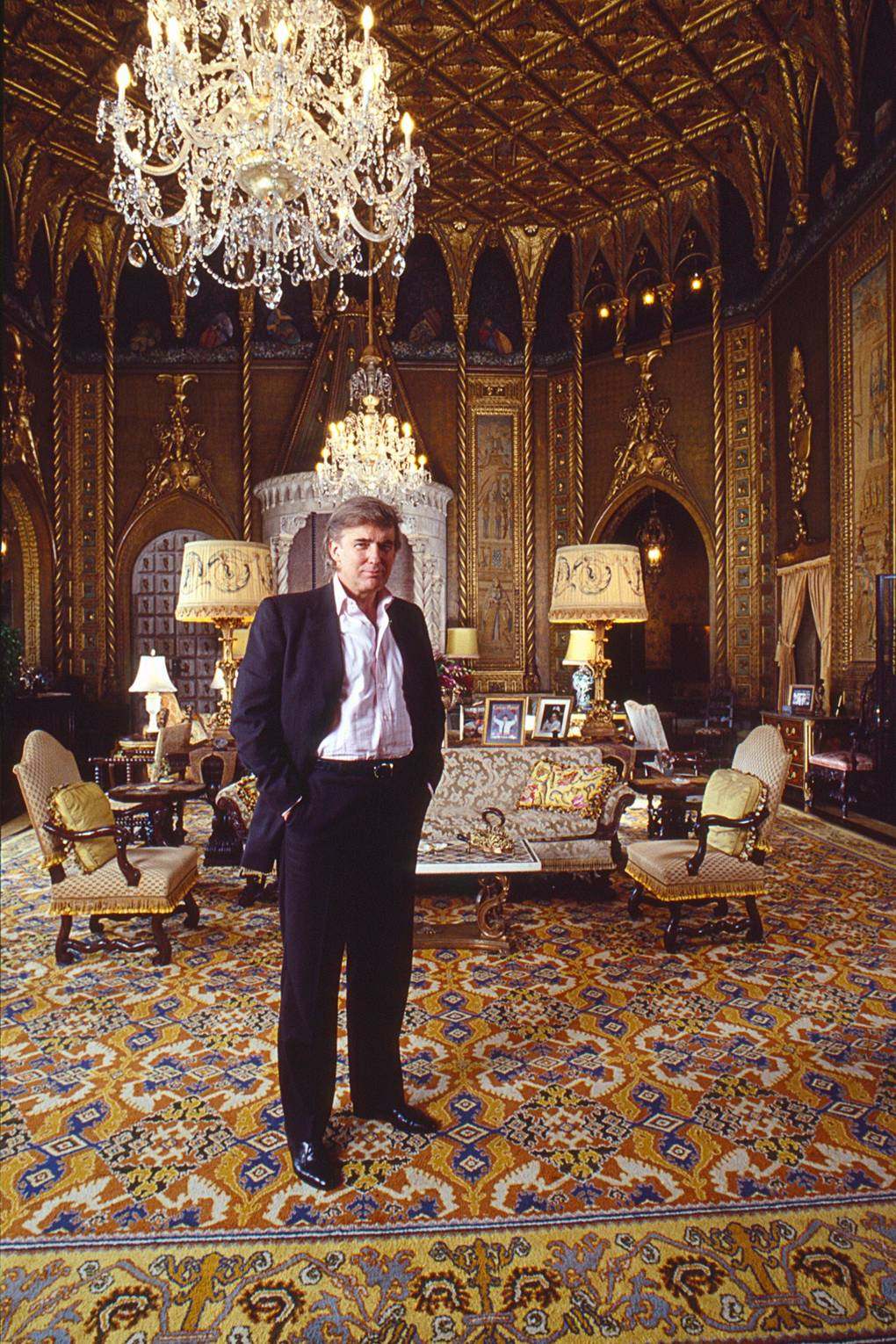 Trump in sitting room