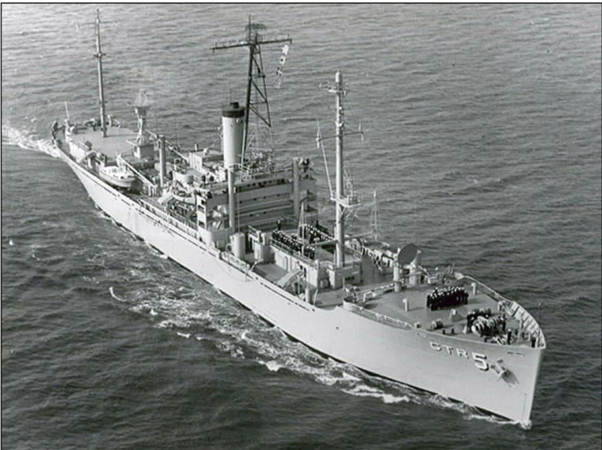 USS Liberty aerial